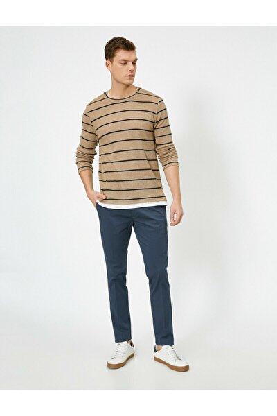 Cep Detayli Slim Fit Pantolon