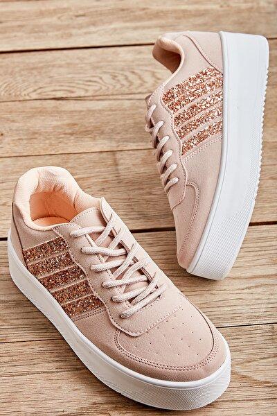 Pudra/rose Camkırık Kadın Sneaker