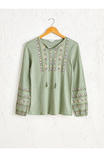 Kadın Mat Yeşil  Tişört