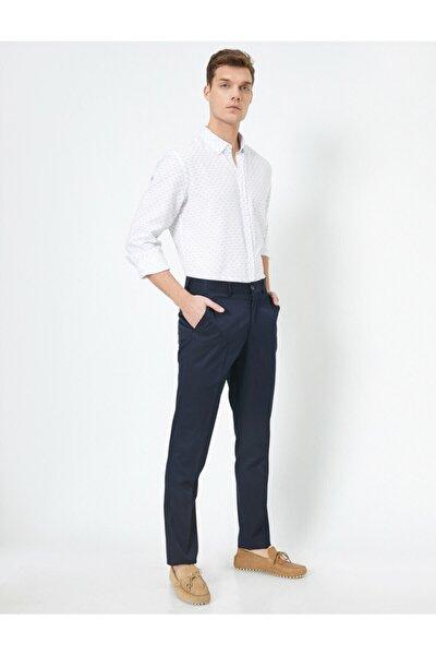 Normal Bel Cep Detayli Pantolon