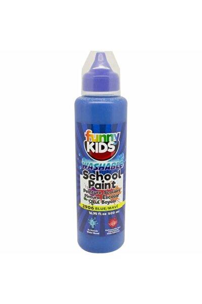 Funny Kids Yıkanabilir Okul Boyası 500ml - 2906 Mavi