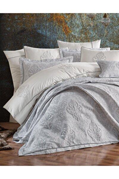 Yatak Örtüsü Olıvıa Gümüş Çift Kişilik
