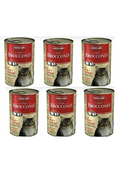 Brocconis Tavuk+yürek Kedi Konserve 6x400gr (6 Lı Fırsat Paketi )