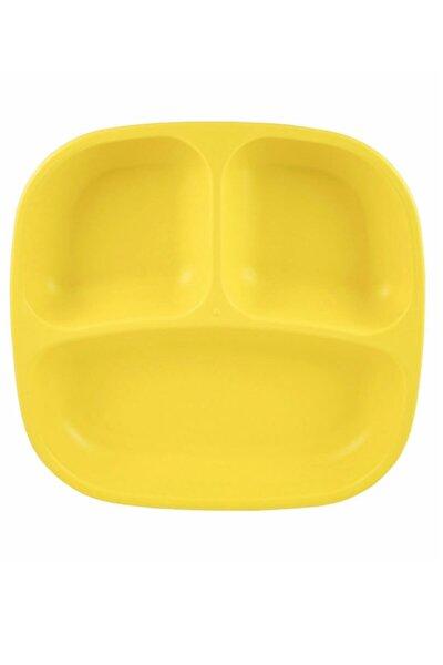 Unisex Sarı Bölmeli Tabak
