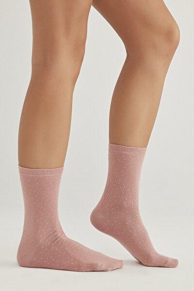 Gri Melanj - Smoke - Siyah Point 4lü Soket Çorap