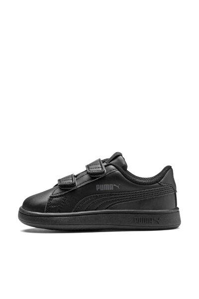 Puma Puma Smash V2 L V Inf Siyah Siyah Erkek Çocuk Sneaker Ayakkabı 100414632