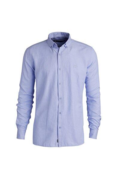 Erkek Gömlek Oxford Shırt Blue