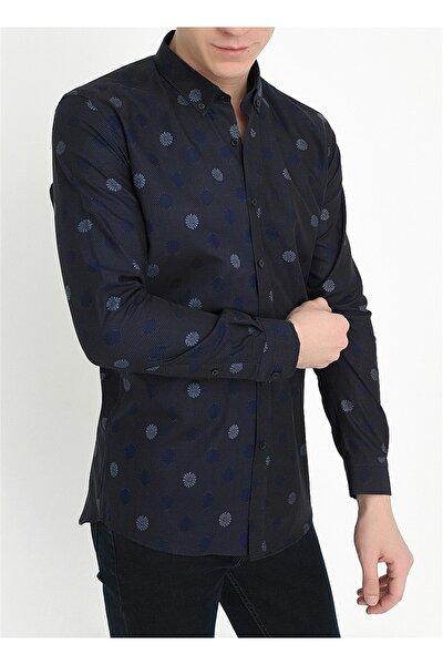 G 1416 Slim Fit Siyah Spor Gömlek