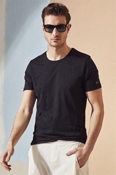 Atş 014 Slim Fit Siyah Spor T-shirt