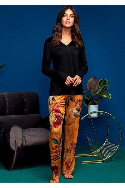 Siyah Penye Mood 8609 Pijama Takımı   Xl