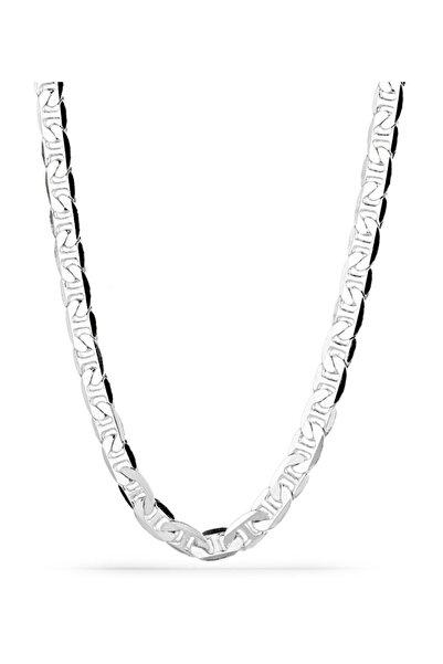 Klasik Gümüş Erkek Zinciri Erkek Rodyum