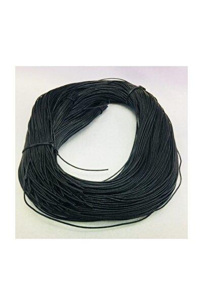 2 Metre Siyah Gerçek Deri Takı Bileklik Ipi Deri Ip 1,7 Mm Kordon Ip