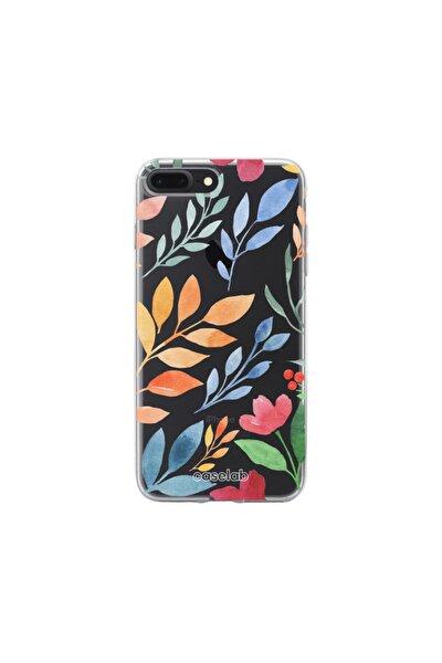 Iphone 7+/8+ Şeffaf Telefon Kılıfı - Watercolor Flowers I