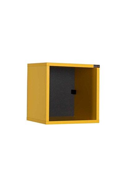 Adore Dekoratif Kare Duvar Rafı Raf-100-sr-1 Sarı