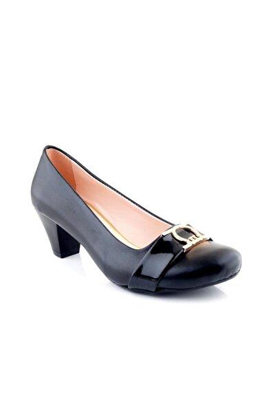 Siyah Gova Kadın Ayakkabı Alckc 00568