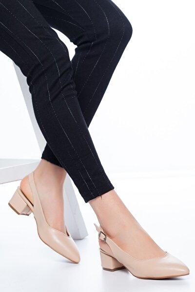 Adesa Topuklu Cilt Ayakkabı Ten