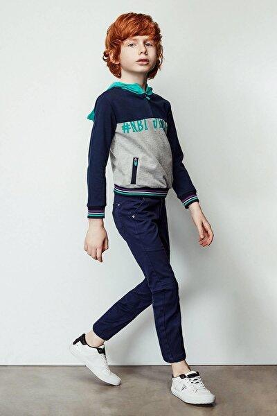 Erkek Çocuk Mavi Sweatshirt