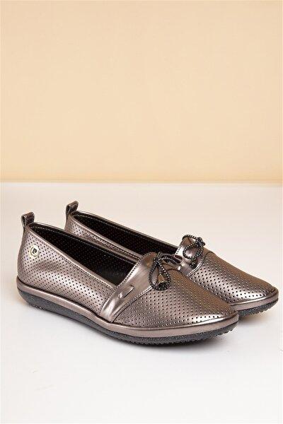 PC-50091 Platin Kadın Ayakkabı
