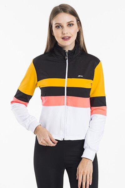 Roller Kadın Sweat Shirt Siyah / Beyaz
