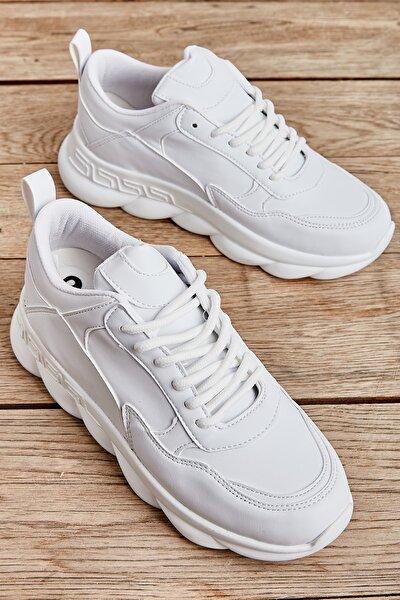 Beyaz Kadın Sneaker L0591606909