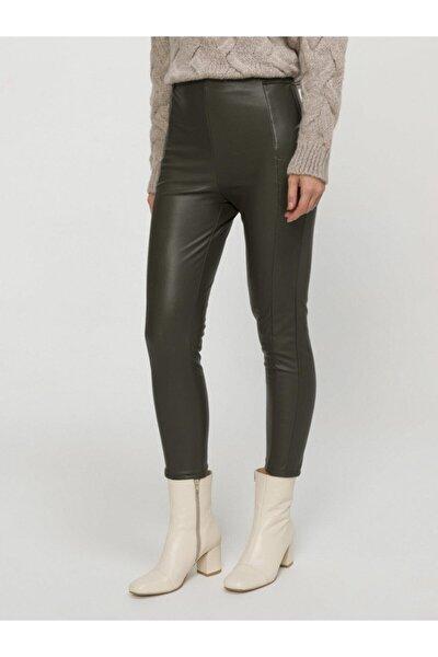 Xınt Deri Görünümlü Pantolon