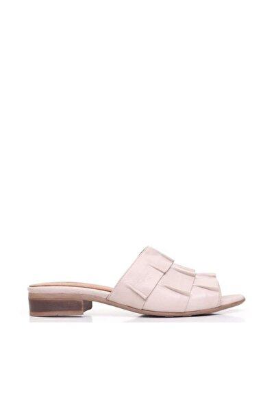 Shoes Kıvrım Detaylı Hakiki Deri Kadın Düz Terlik 9n5101
