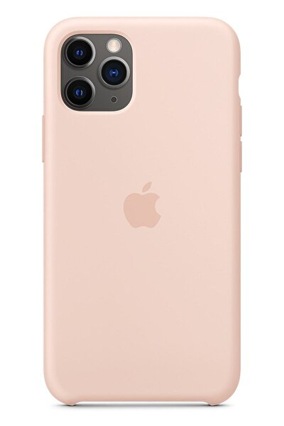Apple Iphone 11 Pro Max Silikon Kılıf Pudra Pembe