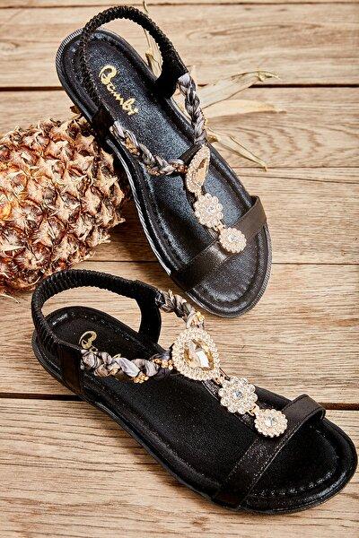 Sıyah Kadın Sandalet L0625011378