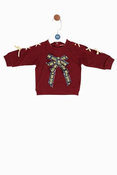 Kız Bebek Bordo Sweatshirt