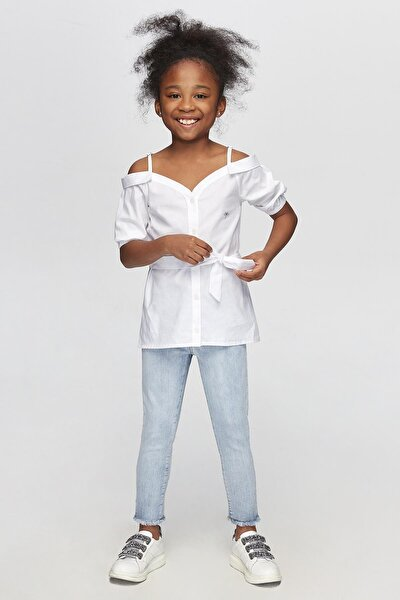 Kız Çocuk Beyaz Gömlek