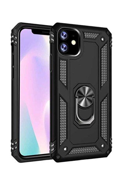 Iphone 11 Tam Koruma Silikon Kılıf Ve Yüzüklü 360 Derece Standı Araç Tutucu Metal Parça