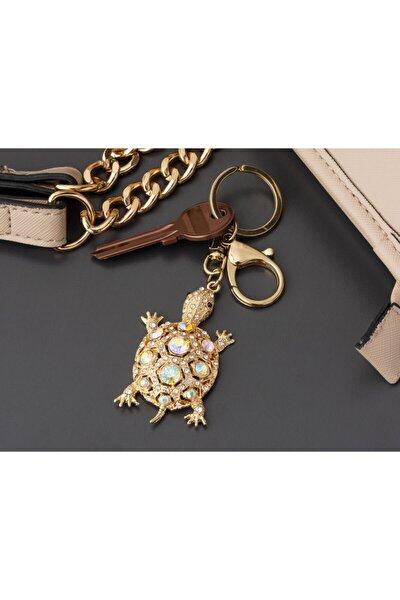 Kaplumbağa Figürlü Anahtarlık - Gold