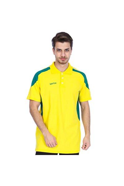 Basic Erkek Sarı Basketbol Polo Tişört 500153-syb