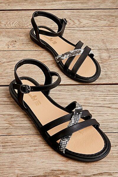 Sıyah/sıy-bey.yıl Kadın Sandalet L0652071309