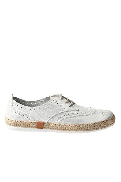 Beyaz Sımlı Deri Kadın Ayakkabı 236 10112-z