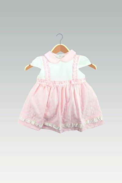 Kız Bebek Pembe Bebe Yakalı Elbise