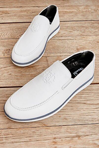 Hakiki Deri Beyaz Erkek Casual Ayakkabı L1759051103