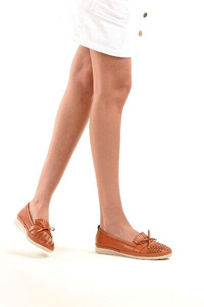 239 Hakiki Deri Kadın Ayakkabı Taba