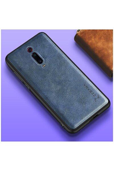 Xiaomi Mi 9t Kılıf Zebana Lüx Deri Kılıf Mavi