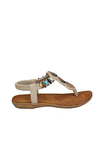 19y251-5 Bej Çocuk Sandalet