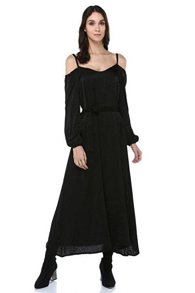 17y289 Omuzları Açık Uzun Elbise