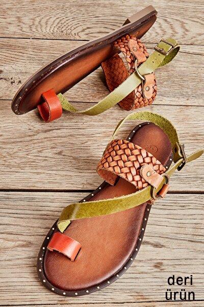 Kiremit/yeş/taba Ö. Kadın Sandalet L0685085003