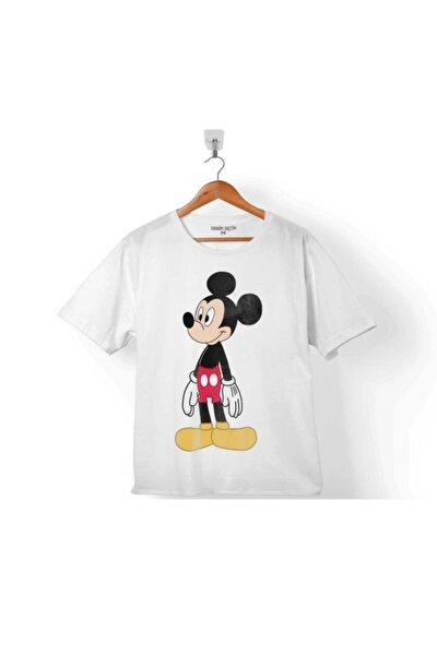 Mıckey Mouse Mıkı Logo Çocuk Tişört