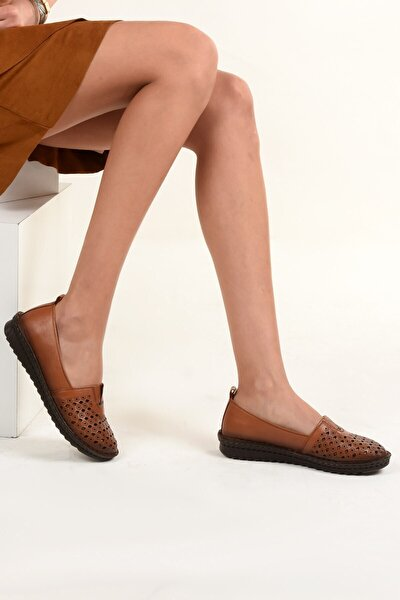 4033 Hakiki Deri Kadın Ayakkabı Taba