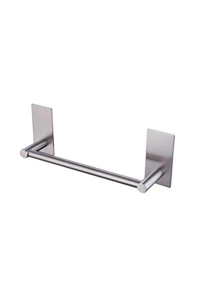 Paslanmaz Çelik 30cm Havluluk / Askılık - Yapışkanlı Sistem - Inox