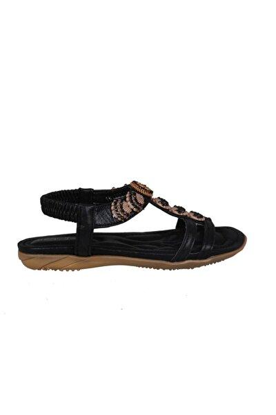 19y251 Siyah Rugan Çocuk Sandalet