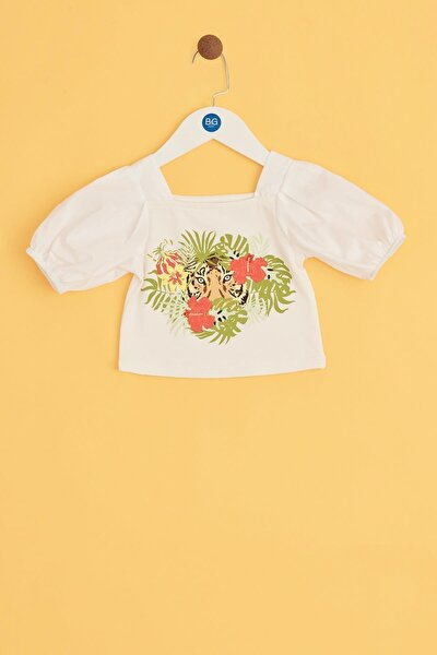 Kız Bebek Ekru Bluz