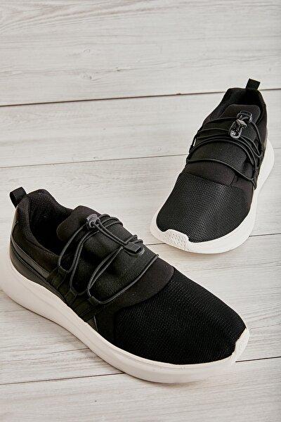 Siyah Beyaz Erkek Sneaker L1805192882