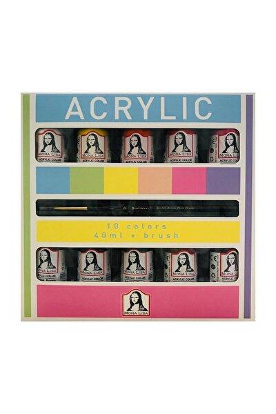 Mona Lisa Akrilik Boya 10 Renk X 40 Ml (fırça Hediyeli) Ml1