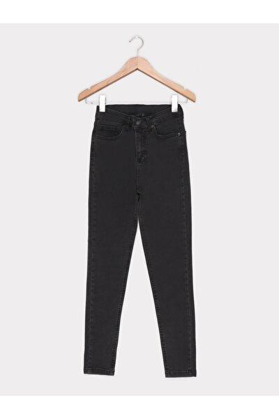 Kadın Füme Düz Kot Pantolon 1000-021